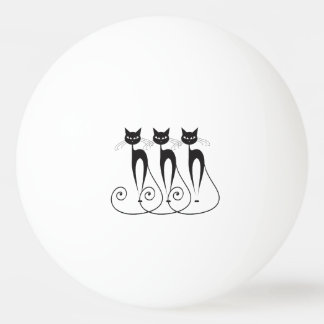 Whimsical cat PERSONALIZE Ping Pong Ball
