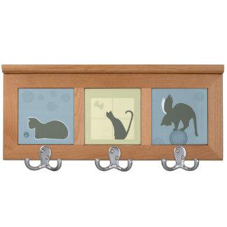 Whimsical Cats Home Decor Coat Racks