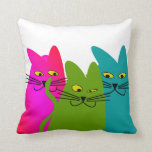 """Whimsical Cats Pillow """"Best Buddies"""""""