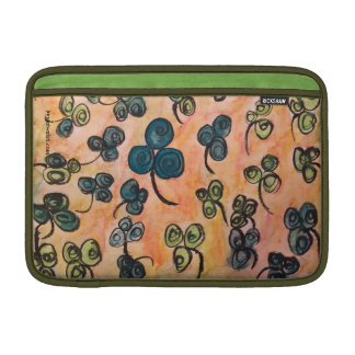 "Whimsical Celtic Shamrock Macbook Air 11"" Sleeve For MacBook Air"