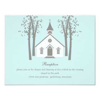 Whimsical Chapel Wedding Reception Enclosure Card