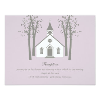 Whimsical Chapel Wedding Reception Enclosure Card Custom Announcements