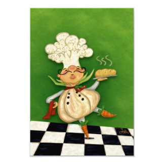 Whimsical Chef 9 Cm X 13 Cm Invitation Card