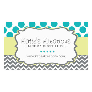 Whimsical Chevron and Dots - Custom Design Pack Of Standard Business Cards