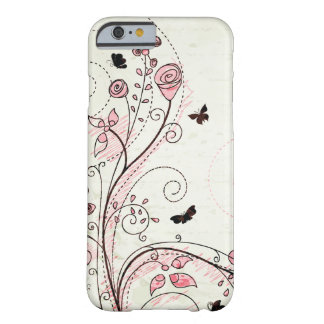 Whimsical chic floral swirls iPhone 6 case