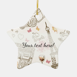 Whimsical Chic Girly Pink Paris Christmas Ornament