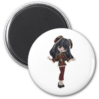 whimsical CHINA DOLL Magnet