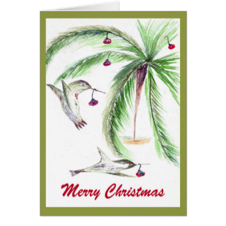 WHIMSICAL Christmas card. Card