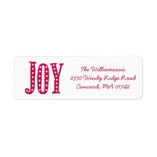Whimsical Christmas Doodled Joy Custom Return Address Label