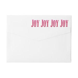 Whimsical Christmas Doodled Joy Custom Wrap Around Label