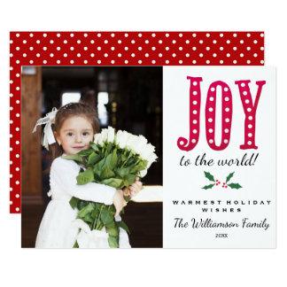 Whimsical Christmas Doodled Joy to the World Card