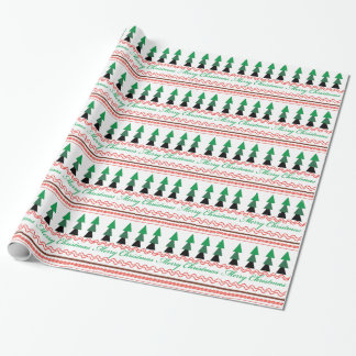 Whimsical Christmas Geometric patterns Wrapping Paper