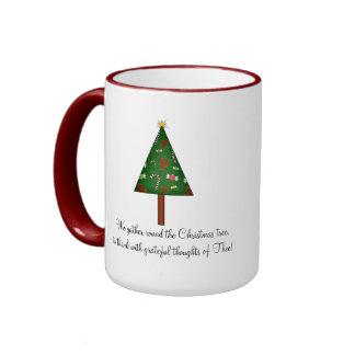 Whimsical Christmas Tree Coffee Mug