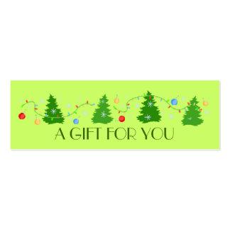 Whimsical Christmas Tree Holiday Gift Tag Business Card Templates