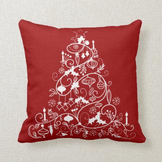Whimsical Christmas Tree Holiday Throw Pillow