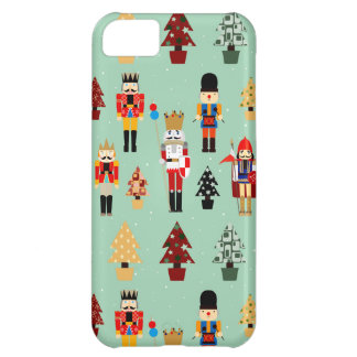 Whimsical Christmas Trees and Nutcrackers iPhone 5C Case