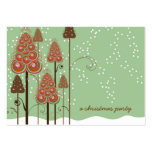 Whimsical Christmas Trees Mini Invite / Thank You/ Business Card