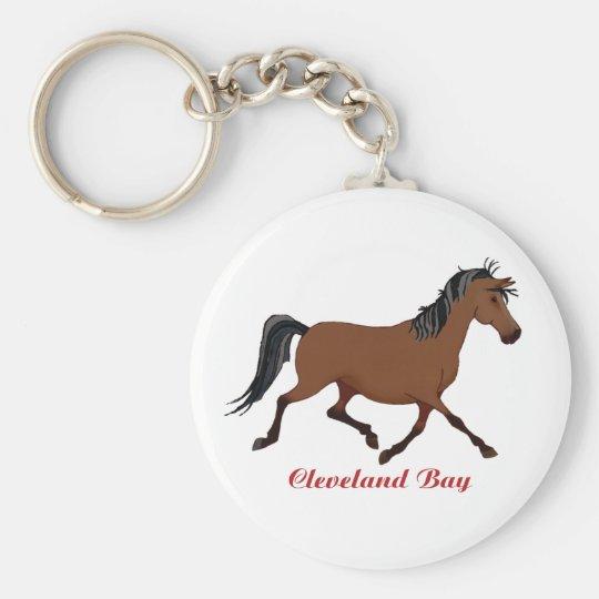 Whimsical Cleveland Bay Basic Round Button Key Ring