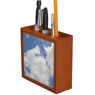 Whimsical Clouds Desk Organizer