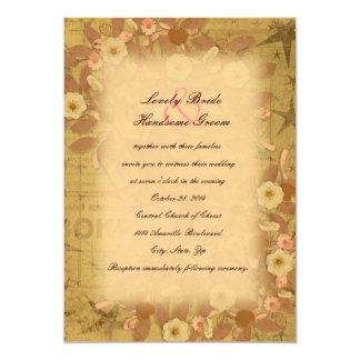 Whimsical Coffee Tree Collage Wedding Invitation