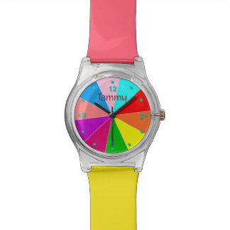 Whimsical Color Wheel Custom Watch