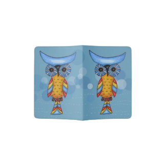 Whimsical Colorful Fantasy Owl Passport Holder