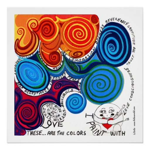 Whimsical, Colourful Print -Uplifting, Positive