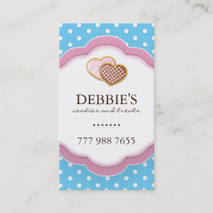 Pretty cookies business cards zazzle uk whimsical cookie business cards colourmoves