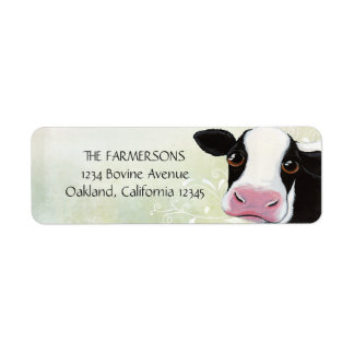 Whimsical Cow Return Address Labels