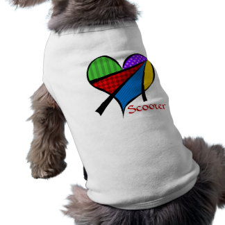 Whimsical Cubism Heart Pet Clothing