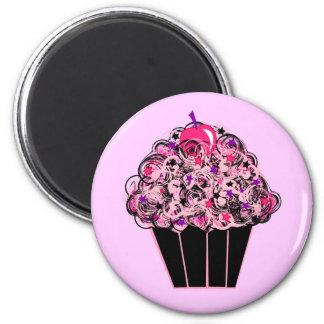 Whimsical Cupcake 6 Cm Round Magnet