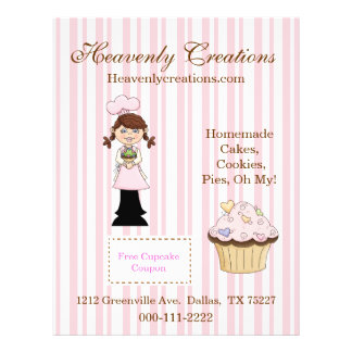Whimsical Cupcake Bakery Flyer