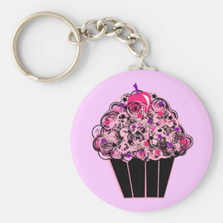 Whimsical Cupcake Key Ring