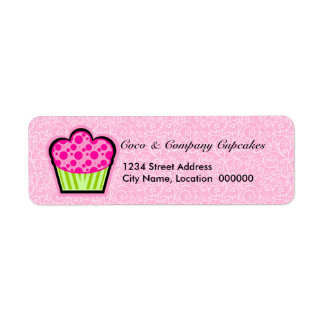 Whimsical Cupcake & Pattern Return Address Labels