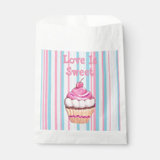 Whimsical Cupcake Pink Party Favors Bag