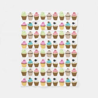 Whimsical Cupcakes Pattern Fleece Blanket