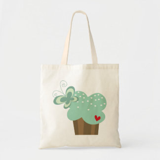Whimsical Cupcakes Tree Butterflies Sweet Birthday Tote Bags