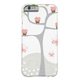 Whimsical Cupcakes Tree Butterflies Sweet Birthday Barely There iPhone 6 Case