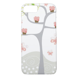 Whimsical Cupcakes Tree Butterflies Sweet Birthday iPhone 7 Case