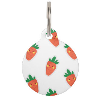 Whimsical cute chibi vegetable pattern pet tags