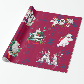 Whimsical Cute Christmas Wildlife Wrapping Paper