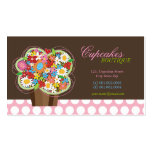 Whimsical Cute Cupcake Spring Flowers Profile Card
