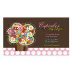 Whimsical Cute Cupcake Spring Flowers Profile Card