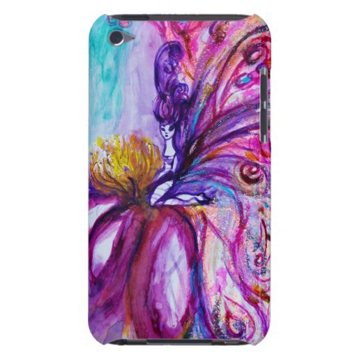 WHIMSICAL CUTE FAIRY IN PINK AND GOLD SPARKLES iPod TOUCH CASE