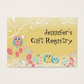 Whimsical Cute Fun Swirl Owl Owls Baby Name Wall