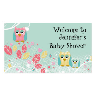 Whimsical Cute Fun Swirl Owl Owls Baby Name Wall Pack Of Standard Business Cards