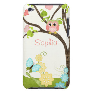 Whimsical Cute Owls Tree of Life Heart Leaf Swirls Case-Mate iPod Touch Case