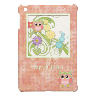Whimsical Cute Owls Tree of Life Heart Leaf Swirls iPad Mini Covers