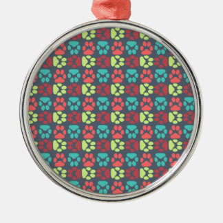 Whimsical Cute Paws Pattern Ornaments