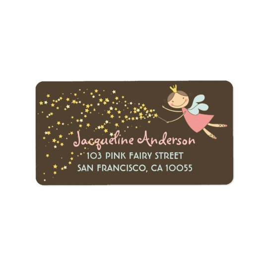 Whimsical Cute Sweet Fairy Stars Address Labels